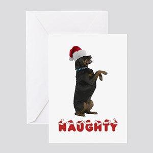Naughty Rottweiler Greeting Card