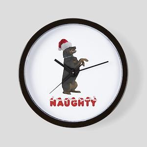 Naughty Rottweiler Wall Clock