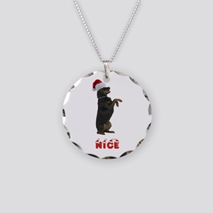 Nice Rottweiler Necklace Circle Charm