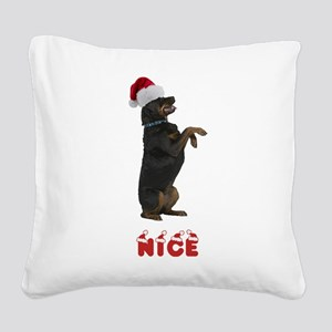 Nice Rottweiler Square Canvas Pillow