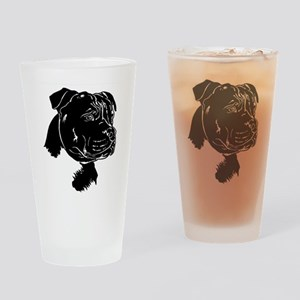 Staffordshire Bull Terrier Drinking Glass