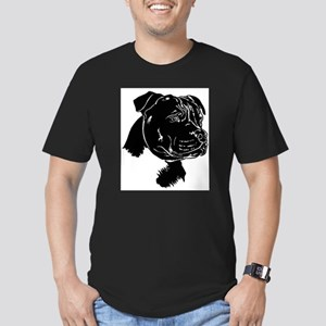 Staffordshire Bull Terrier Men's Fitted T-Shirt (d