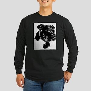 Staffordshire Bull Terrier Long Sleeve Dark T-Shir