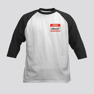 Hello My Name Is Atheist Kids Baseball Jersey