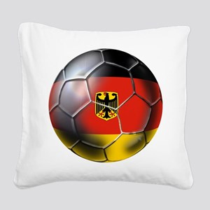German Soccer Ball Square Canvas Pillow
