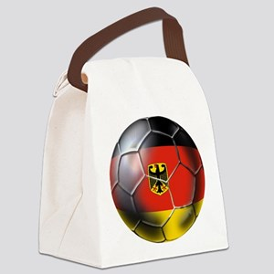 German Soccer Ball Canvas Lunch Bag