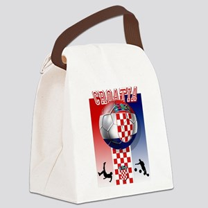 Croatian Football Canvas Lunch Bag