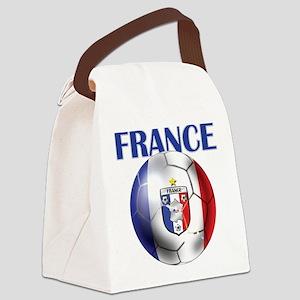 France Soccer Football Canvas Lunch Bag