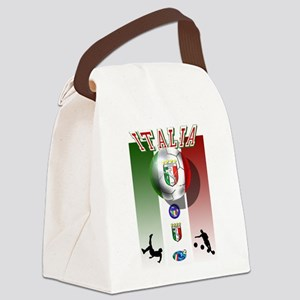 Italia Italian Football Canvas Lunch Bag