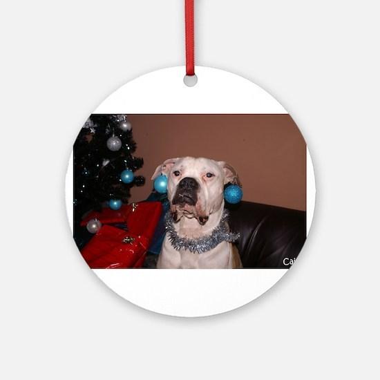 Bulldog Bauble Ornament (Round)