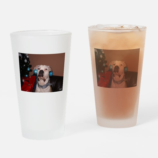 Bulldog Bauble Drinking Glass
