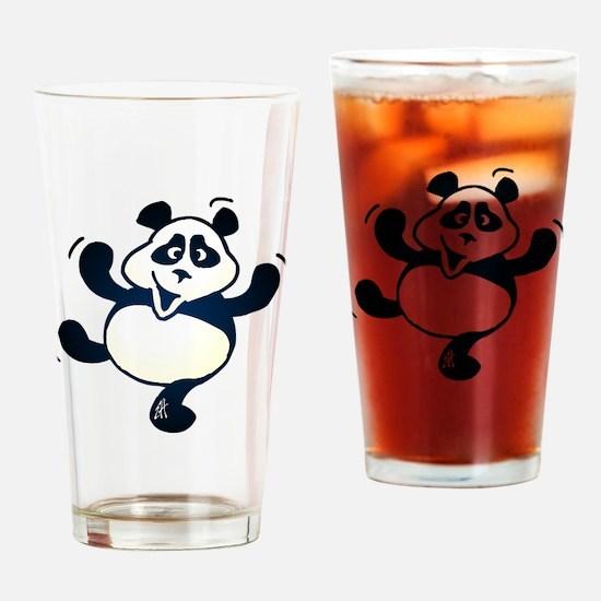 Dancing panda Drinking Glass