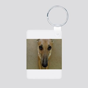 Look of Innocence Aluminum Photo Keychain