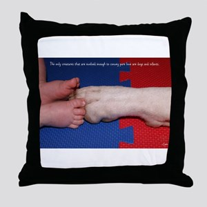 Pitter Patter Paws Throw Pillow
