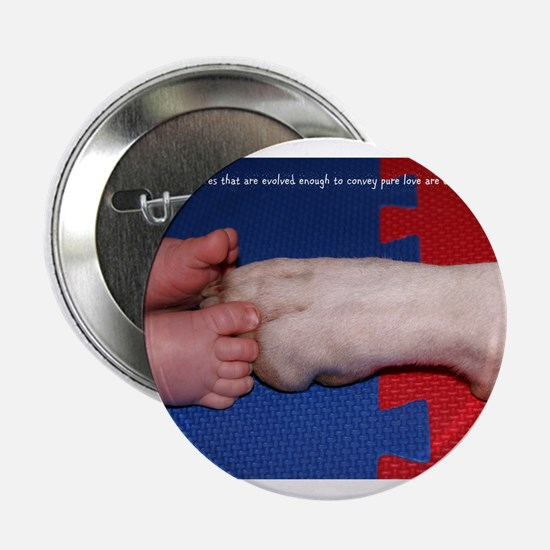 """Pitter Patter Paws 2.25"""" Button"""