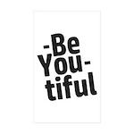 Be You tiful Sticker (Rectangle 50 pk)
