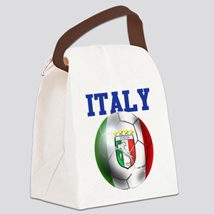 Italy Soccer Ball Canvas Lunch Bag