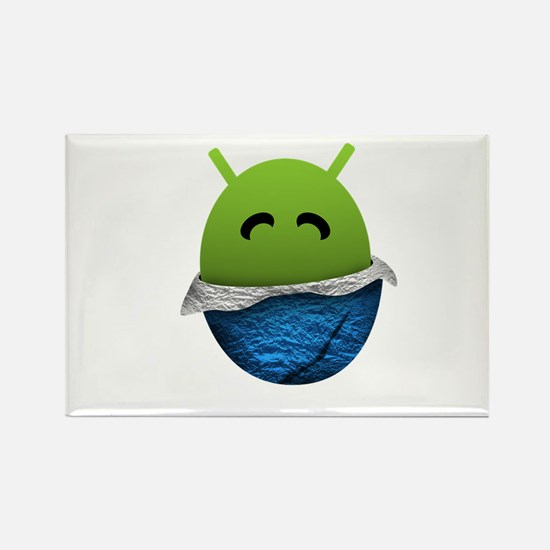 Official Android Unwrapped Gear Rectangle Magnet