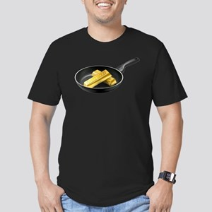 Fried Gold Men's Fitted T-Shirt (dark)