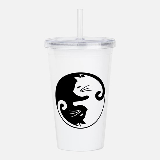 YIN YANG CUTE CATS Acrylic Double-wall Tumbler