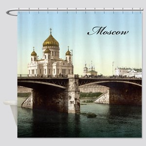 Vintage Moscow Shower Curtain