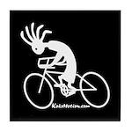 Kokopelli Road Cyclist Tile Coaster