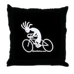 Kokopelli Road Cyclist Throw Pillow