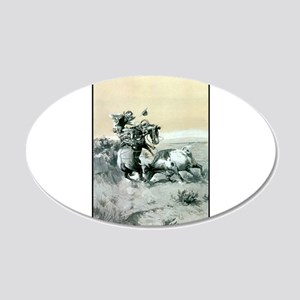 A Moment of Great Peril 20x12 Oval Wall Decal