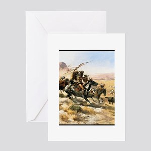 Attack on a Wagon Train, 1902 Greeting Card