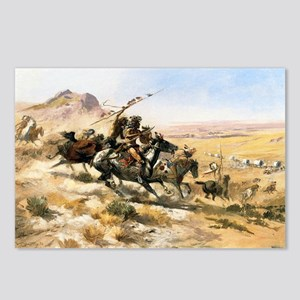 Attack on a Wagon Train, 1902 Postcards (Package o