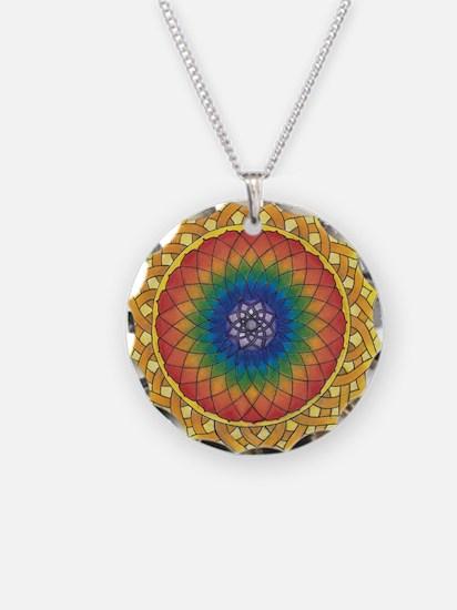 Sunflower Crown Mandala Necklace