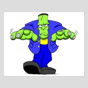 Cartoon Frankenstein Small Poster