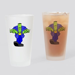 Cartoon Frankenstein Drinking Glass