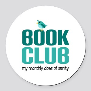 Book Club Sanity Round Car Magnet