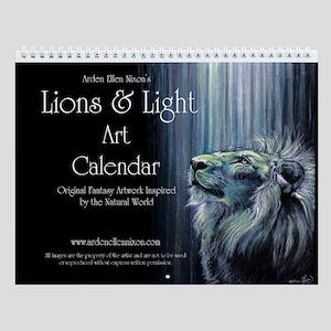 Lions & Light Wall Calendar