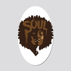 Soul Fro 20x12 Oval Wall Decal