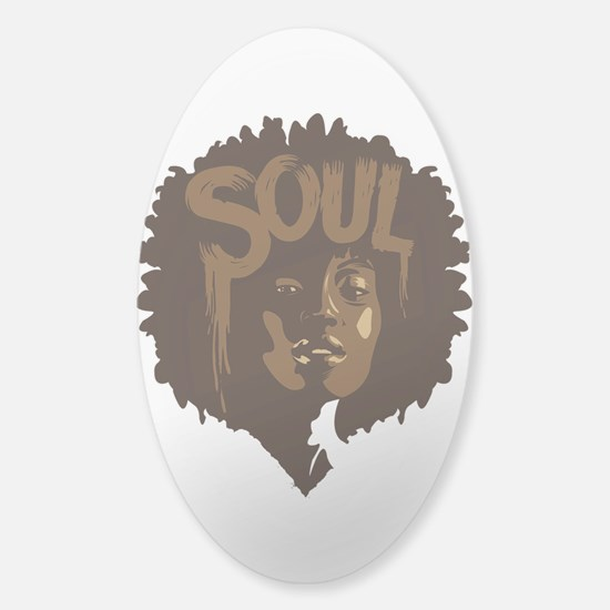 Soul Fro Sticker (Oval)