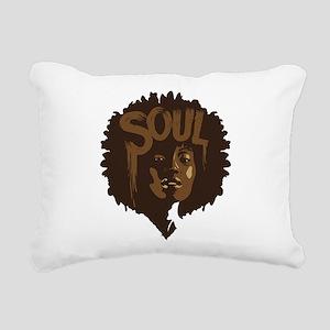 Soul Fro Rectangular Canvas Pillow
