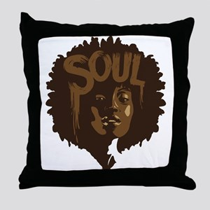 Soul Fro Throw Pillow