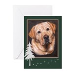Yellow Lab Boy Painting Christmas Cards (10)