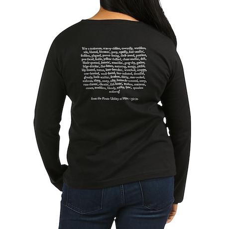 Women's Long Sleeve Pirate Insult T-Shirt