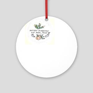 Defeat diabetes Ornament (Round)