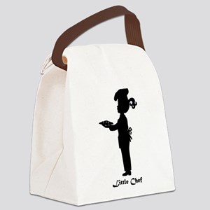 Little Chef With Plate of Cookies Canvas Lunch Bag