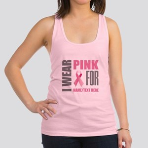 Pink Awareness Ribbon Customize Racerback Tank Top