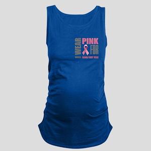 Pink Awareness Ribbon Customize Maternity Tank Top