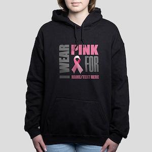 Pink Awareness Ribbon Cu Women's Hooded Sweatshirt