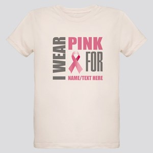 Pink Awareness Ribbon Customi Organic Kids T-Shirt