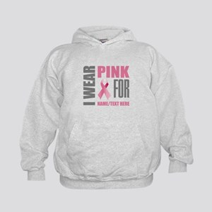 Pink Awareness Ribbon Customized Kids Hoodie