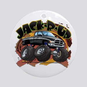 Black Jack-R-Up Ram Ornament (Round)
