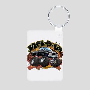 Black Jack-R-Up Ram Aluminum Photo Keychain